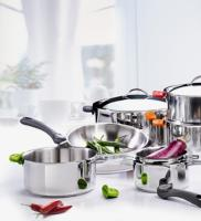 De Buyer batterie de 3 casseroles en inox Twisty Ø 16.18.20