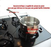 Casserole en cuivre de Buyer queue inox