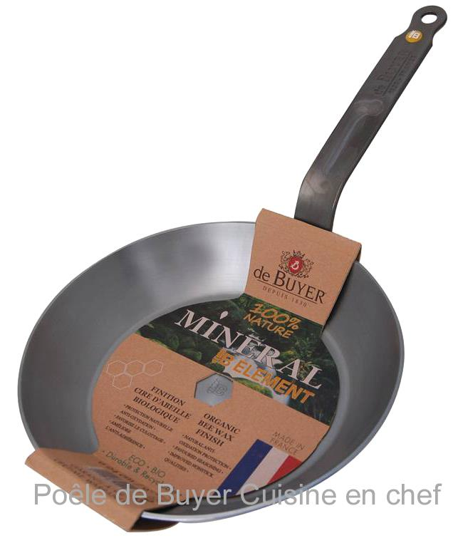 Po le de buyer acier fer min ral b 24 - Poele de top chef ...